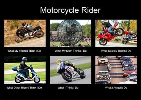What People Think Motorcyclists Do