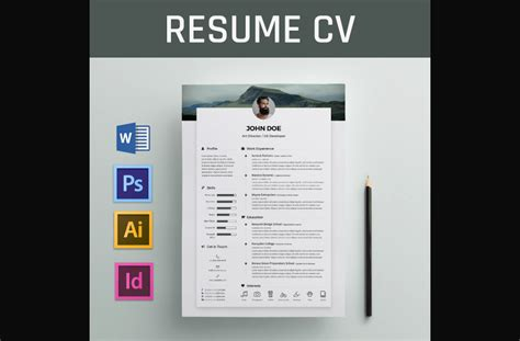 Free Resume Template For Word by 65 Eye Catching Cv Templates For Ms Word Free To