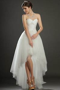 chic short dress stylish high low style wedding dresses With wedding dresses high low