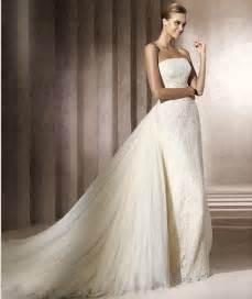gorgeous wedding dresses with detachable sangmaestro - Wedding Gowns With Detachable Trains