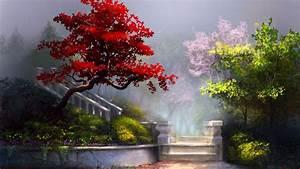 Beautiful Garden Flower Painting HD Wallpapers