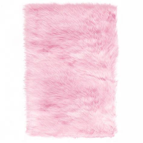 faux fur area home decorators collection faux sheepskin pink 5 ft x 8
