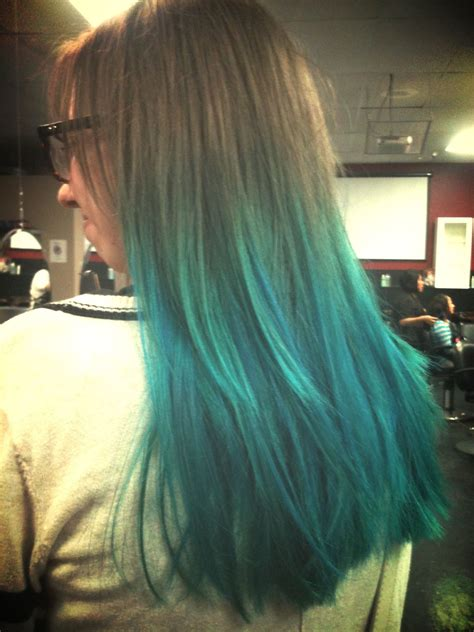 Teal Ombre Bleach Used To Create The Ombré Was The Sallys