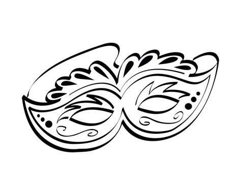 Free Printable Mask Coloring Pages For