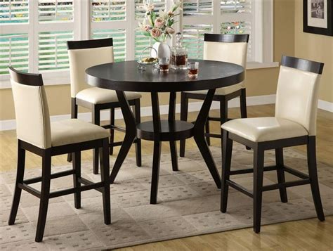casual kitchen table and chair wood counter height kitchen table and 4 chirs