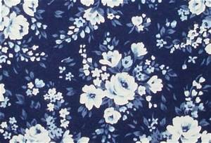 Navy Blue Floral Pattern