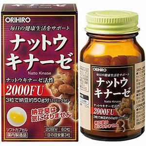 Orihiro Nattokinase 60 Capsules From Japan 4971493105861