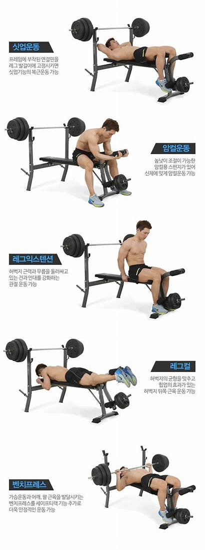 Weight Lifting Flat Gym Bench Press Barbell