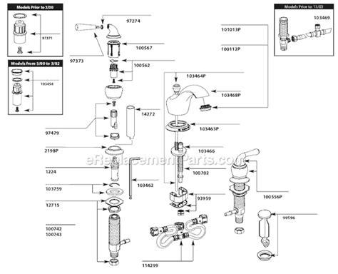 moen tp parts list  diagram ereplacementpartscom