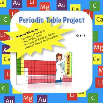 middle school periodic table project learn families