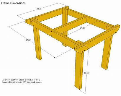 Plans Table 2x4 Bench Patio Frame Plan