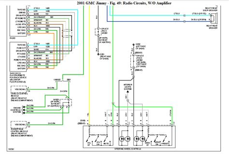 Gmc Car Stereo Wiring Diagram by I Need A Gmc Jimmy Edition Wiring Diagram For The