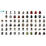 Sheet Character Icons Lego Wars Spriters Force