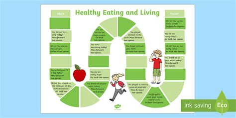 Healthy Eating And Living Board Game  Science, Science Games
