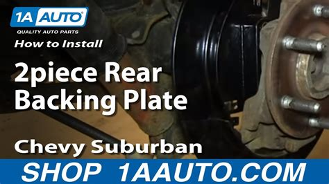 install replace piece rear backing plate