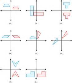 rotation maths worksheet transformation worksheets