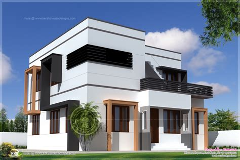 House To Home Designs : Square Feet Modern Villa Exterior House Design Plans