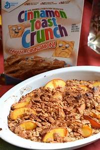 Baked Peach Oatmeal with Cinnamon Toast Crunch - The ...