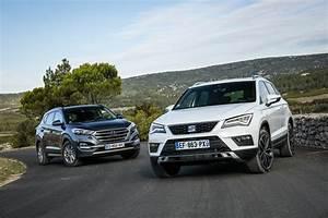 Essai Hyundai Tucson Essence : dossier sp cial essai comparatif seat ateca vs hyundai tucson diesel l 39 argus ~ Medecine-chirurgie-esthetiques.com Avis de Voitures