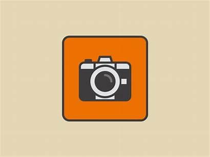 Icon Camera Animated Animation Dribbble Gifs Motion