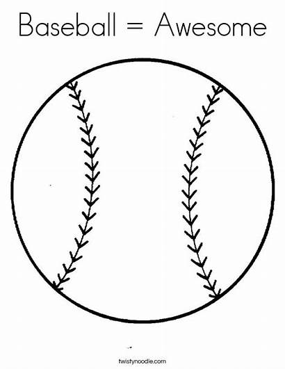 Baseball Coloring Ball Pages Bat Awesome Angels