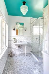 bathroom ceilings ideas 25 bathrooms that beat the winter blues with a splash of color