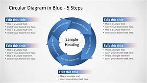 Blue 5 Step Circular Diagram Ppt