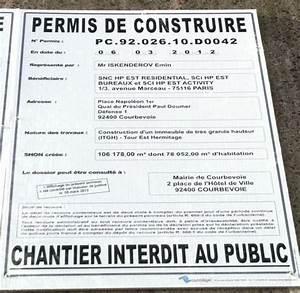 Affichage Permis De Construire : le prix d un permis de construire d 39 une surface de plancher ~ Dallasstarsshop.com Idées de Décoration