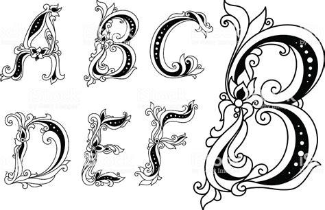 letter d floral design stock vector 169 kudryashka 3233753 calligraphic blumen buchstaben a b c d e und f stock 40767
