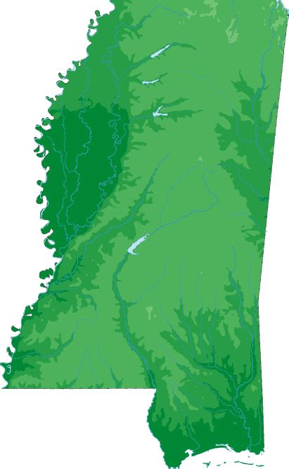 mississippi topo map topographical map