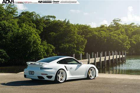 911 Turbo S Wheels by White Porsche 911 Turbo S Kicks Back On Adv 1 Wheels