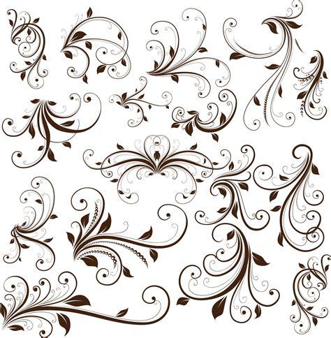 free vector design swirl floral decorative element vector graphic free