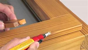Oprava laku dřevěných eurooken
