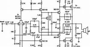 Wiring Schematic Diagram  300w Subwoofer Power Amplifier
