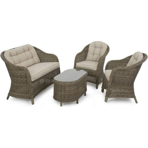 Rounded Back Sofa by Maze Rattan Winchester Rounded High Back Sofa Set