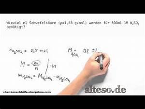 Volumenkonzentration Berechnen : st chiometrie stoffmenge und volumen berechnen schwefels ure youtube ~ Themetempest.com Abrechnung