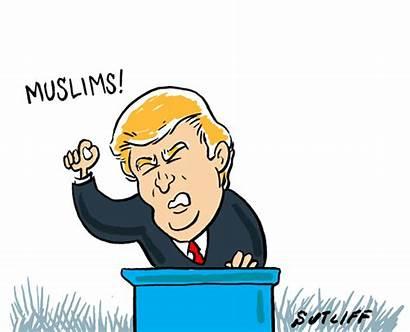 Editorial Cartoon Speech Cartoons Trump Animation Market
