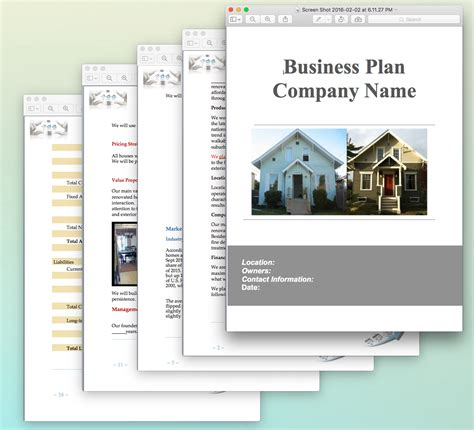 real estate house flipping business plan sample pages