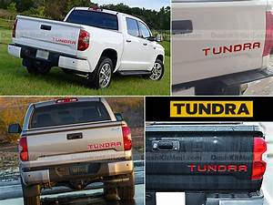 red toyota tundra 14 15 16 tailgate letters inserts not With 2014 tundra tailgate letters