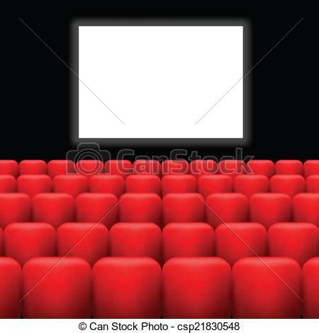 sieges cinema dessin de cinéma écran et rouges sièges coloré