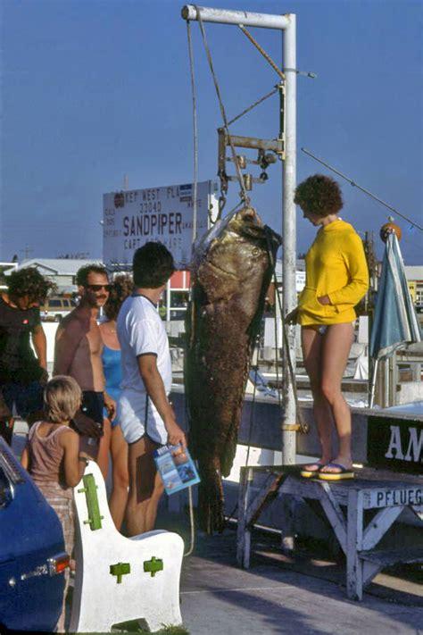 goliath grouper key atlantic west standing woman florida fl