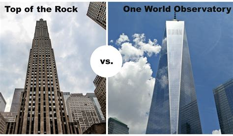 top of the rock vs one world observatory compare major