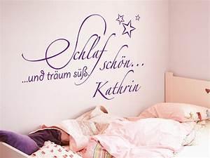 Wandtattoo Name Kind : kinder wandtattoo schlaf sch n mit name von ~ Indierocktalk.com Haus und Dekorationen