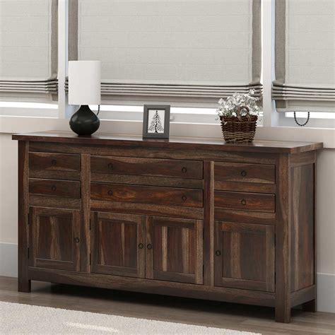 A Sideboard Is A by Richmond Spacious Solid Wood 6 Drawer 4 Door Large