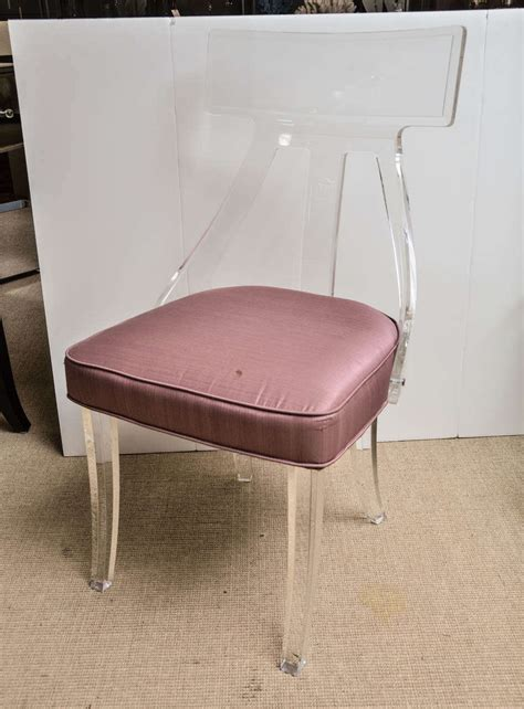Clear Acrylic Desk Chair by Vintage Clear Lucite Desk Chair At 1stdibs
