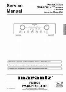 Marantz Pm8004 Pm Ki Pearl Lite Amplifier Service Manual