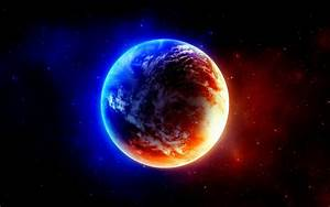 1920X1080 Planet Earth On Fire - Pics about space