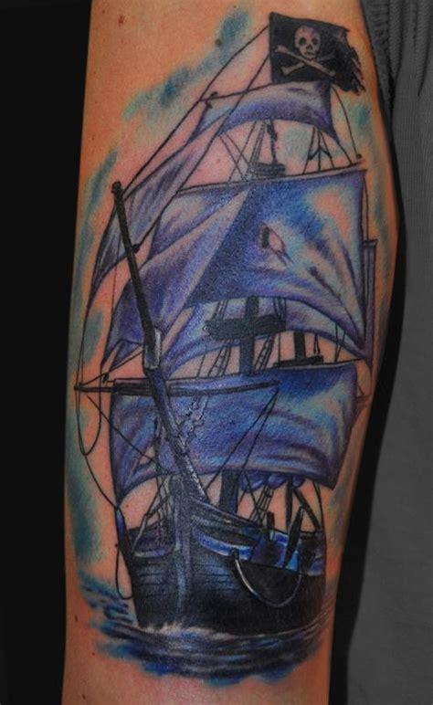 pirate ship tattoos ideas