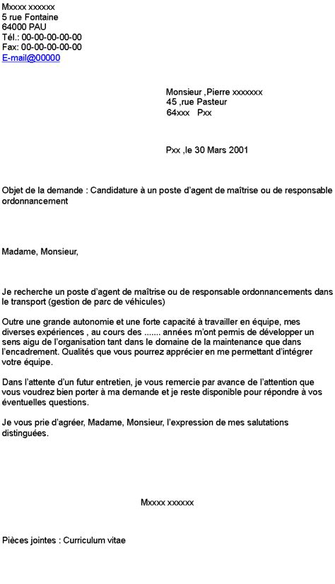 foto de Lettre de motivation évolution de poste laboite cv fr
