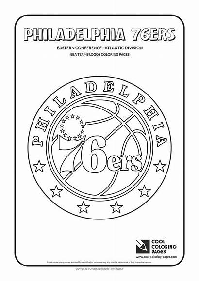 Nba Coloring Pages Logos 76ers Teams Philadelphia